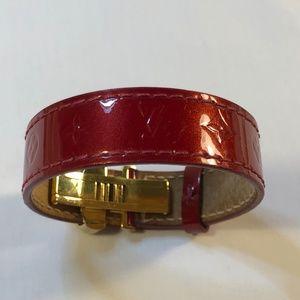 Louis Vuitton Jewelry - Louis Vuitton Leather & Gold Tone Hardware Bracele